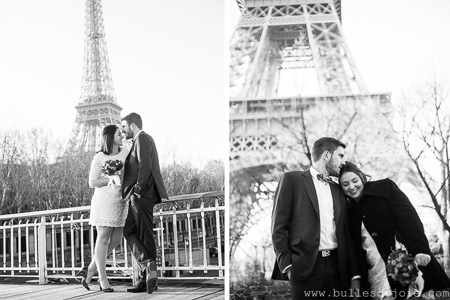 Mariage civil Tour Eiffel | Bulles de Joie Photographie, photographe Paris