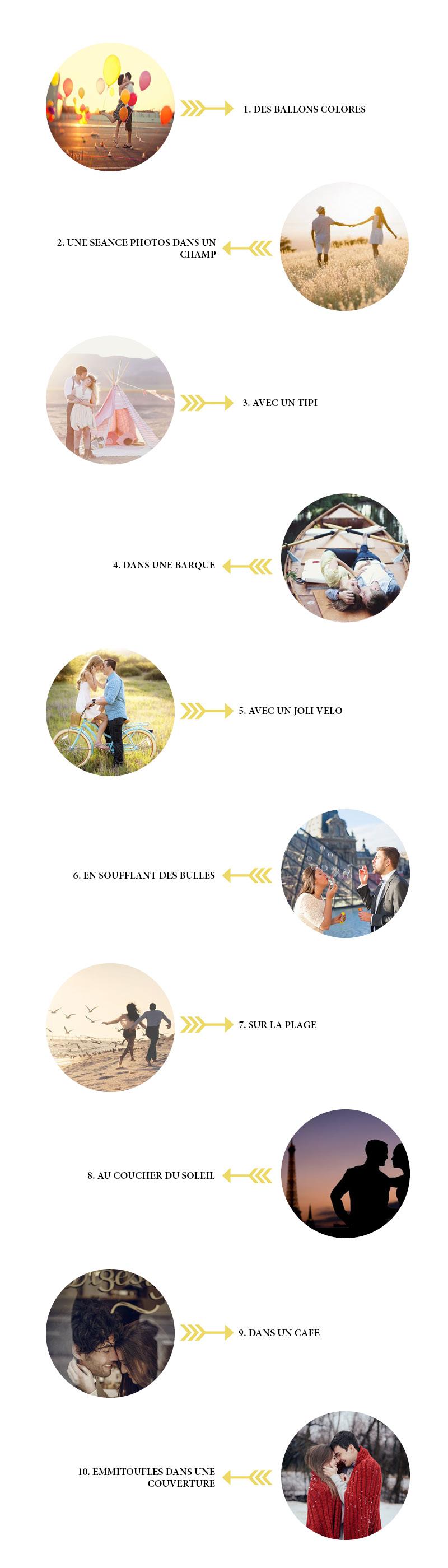 10 inspirations Pinterest pour une seance photo romantique | Bulles de Joie Photographie, photographe de gens joyeux