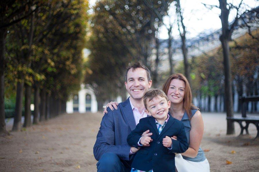 Family portrait of a family of 3. Captured by Bulles de Joie, Paris family photographer.