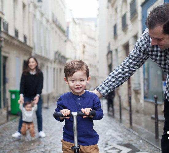 Boy and his dad in Paris - lifestyle photography session in Paris, France