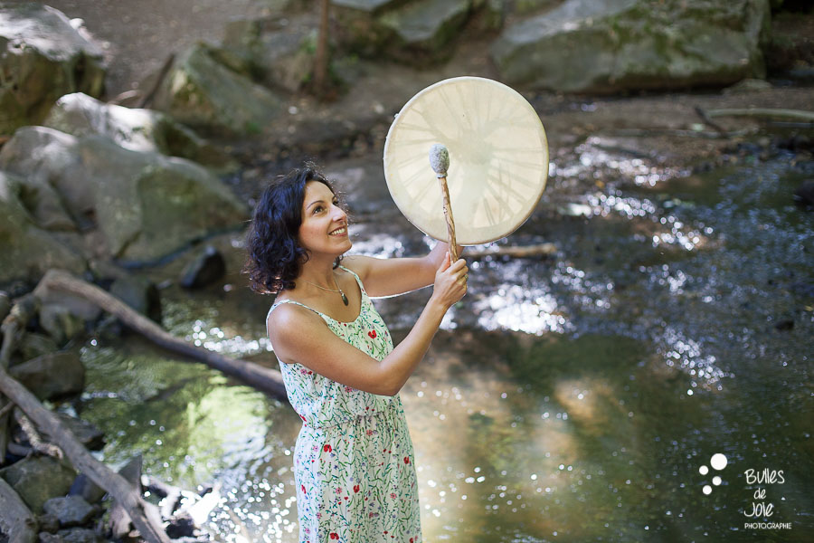 Séance photo chamane avec tambour