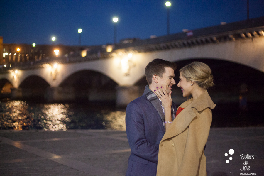Photoshoot in Quais de Seine by night