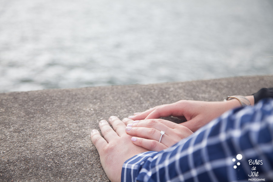 Engagement ring, proposal Eiffel Tower. Photo by Bulles de Joie
