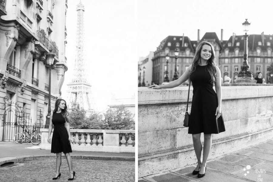 Black and white photos of an American woman on a tour in Paris. Solo photoshoot Paris captured by the professional photographer: Bulles de Joie. More photos: https://www.bullesdejoie.net/en/2017/09/10/solo-photoshoot-paris/