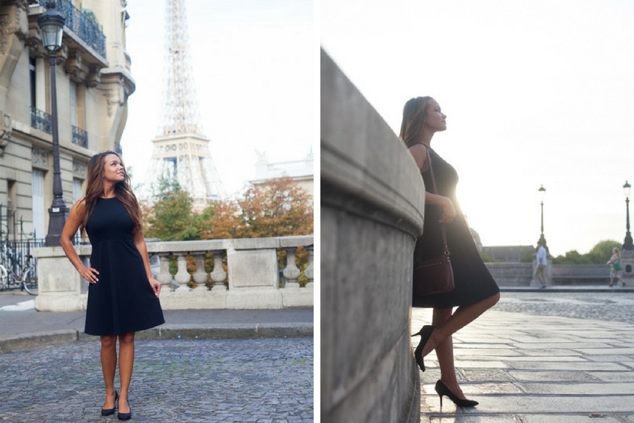 Solo portrait photoshoot at the golden hour in Paris. Solo photoshoot Paris captured by Bulles de Joie. More photos: https://www.bullesdejoie.net/en/2017/09/10/solo-photoshoot-paris/