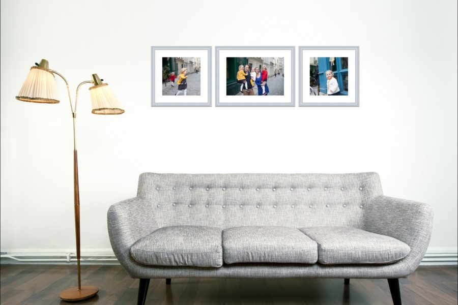 Example of wall art to hang after your Paris family photo session