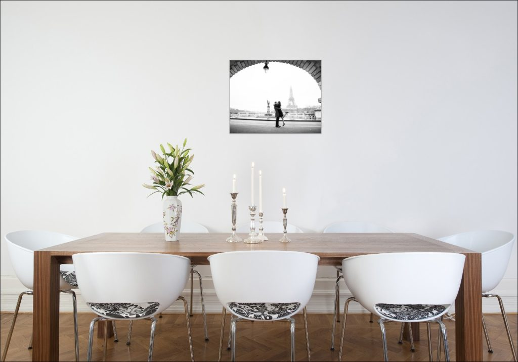 Example of wall art to hang after your Paris love photo session
