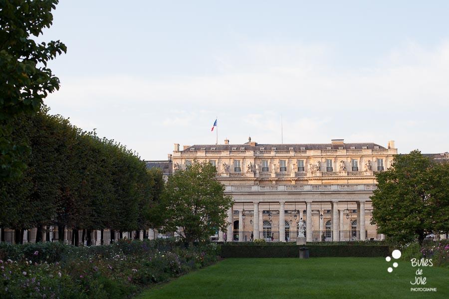 Vow renewal at Palais Royal Garden - Paris, France