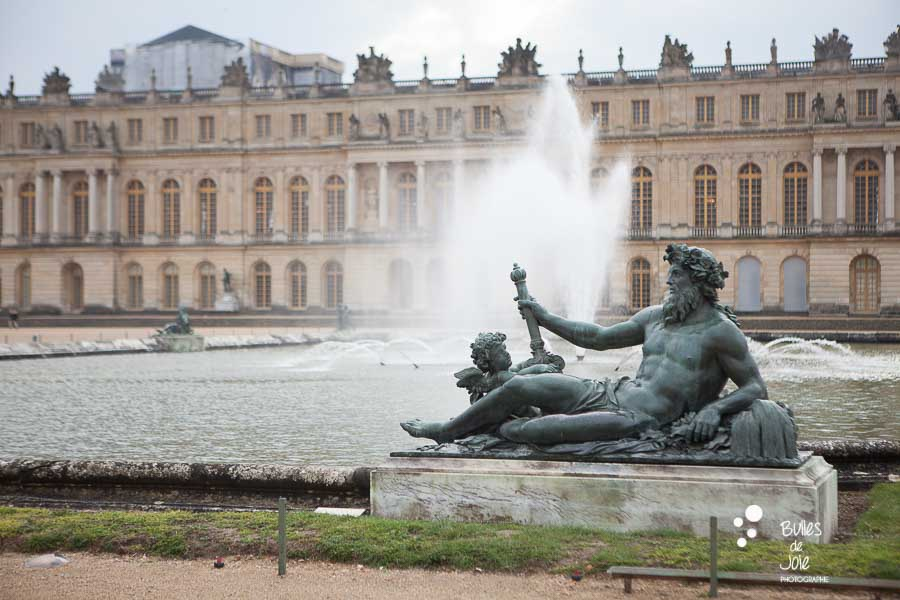 Beautiful statue in Versailles Gardens