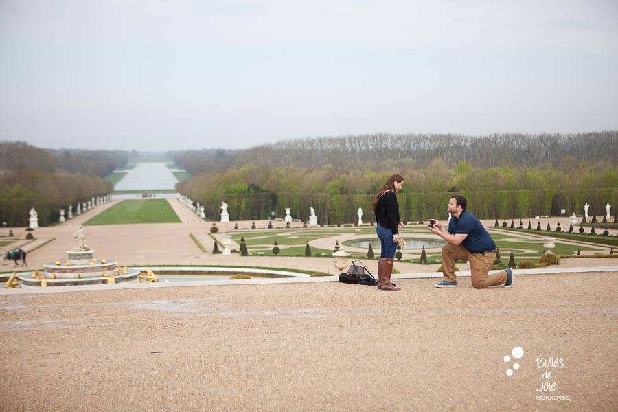 Versailles Gardens surprise proposal - by Bulles de Joie