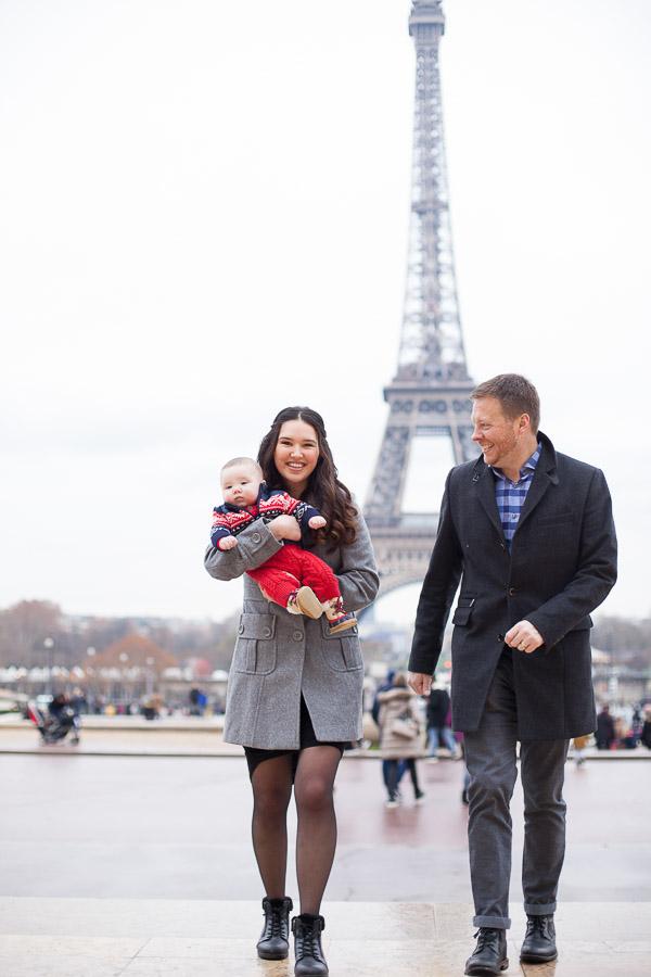 Family pictures Eiffel Tower, Paris.