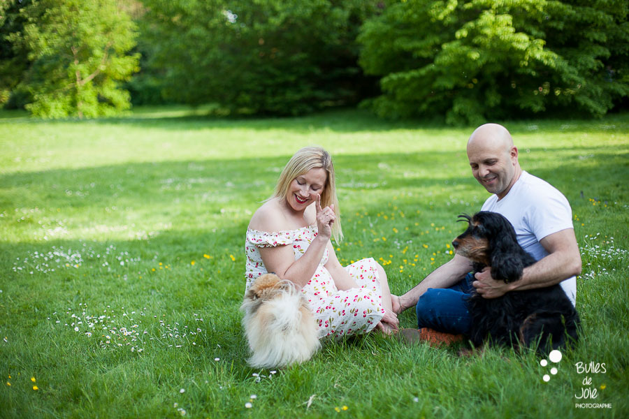 Shooting photo famille avec des chiens Yvelines, 78