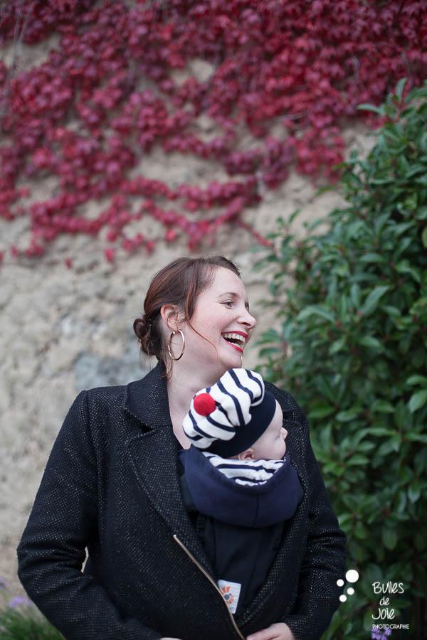 Maman souriant à son enfant - Séance photo famille Automne Yvelines