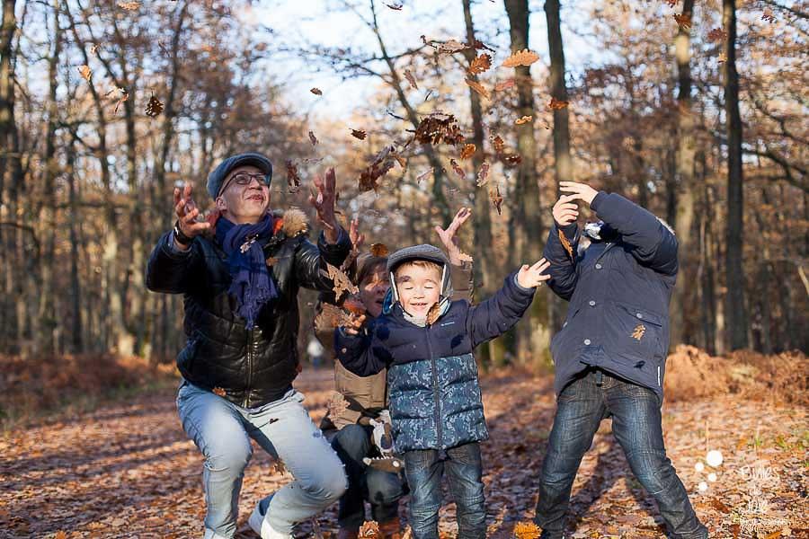 Photos de famille joyeuses d'Automne - Yvelines