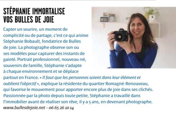 Bulles de Joie, photographe à Conflans, est dans le VAC (Vivre à Conflans) de janvier
