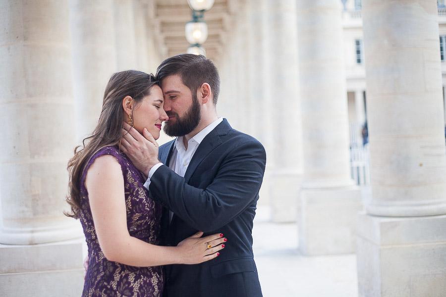 Séance photos couple Paris lors de la Saint Valentin