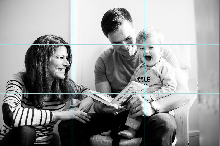 Conseil pour photographier ses enfants : utiliser la règle des tiers