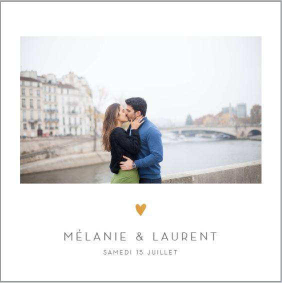 Faire-part romantique à Paris