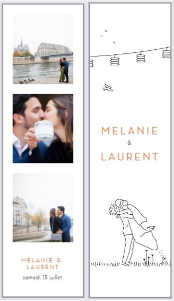 Idée de faire-part de mariage avec photos