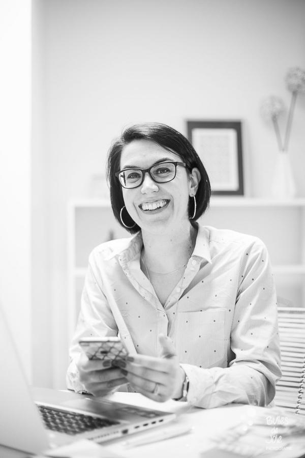 Reportage photo pour entrepreneure dans le digital