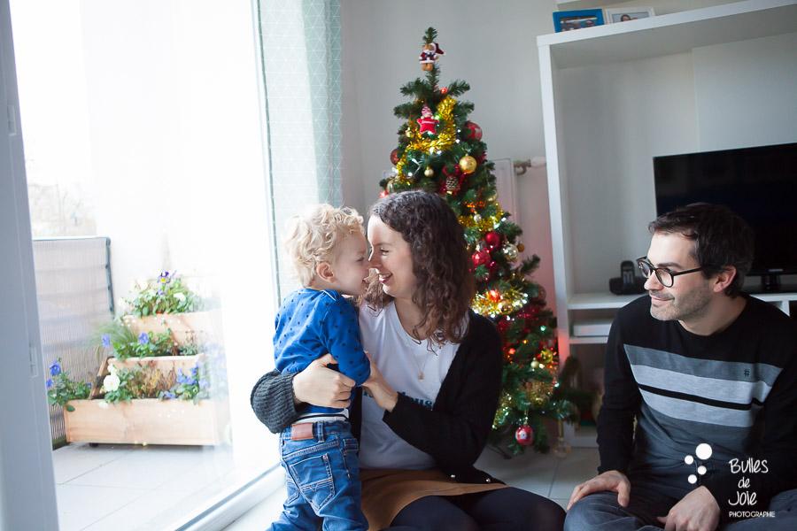 Seance photo ambiance Noël à domicile, Antony (92)