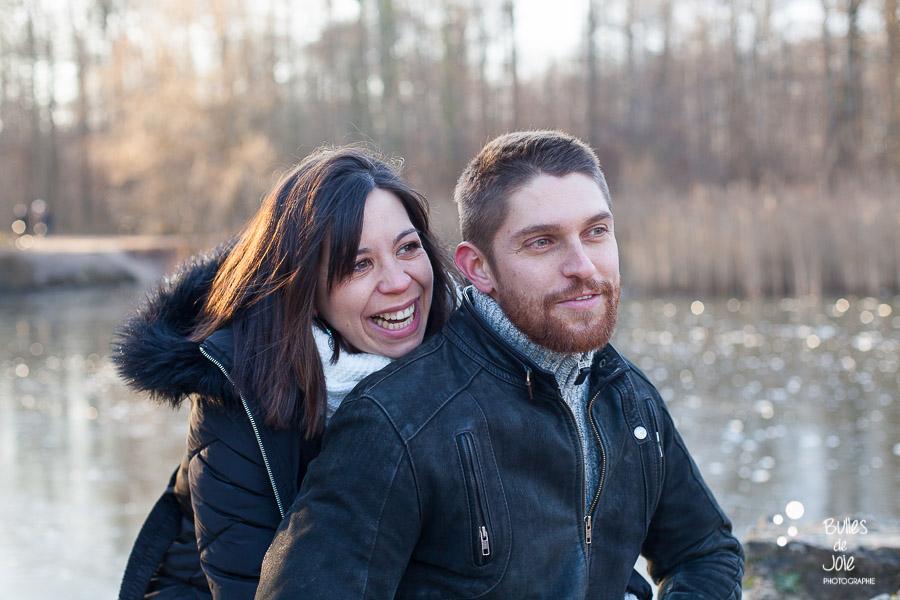 Shooting photo couple en hiver Paris