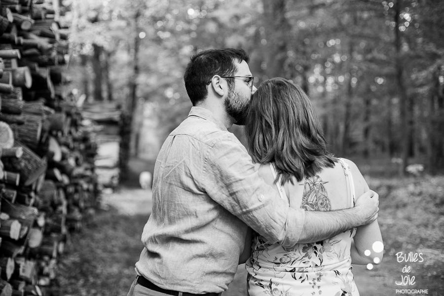 Shooting grossesse Paris d'un couple d'amoureux