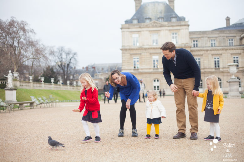 Family photoshoot in Luxembourg Gardens, Paris